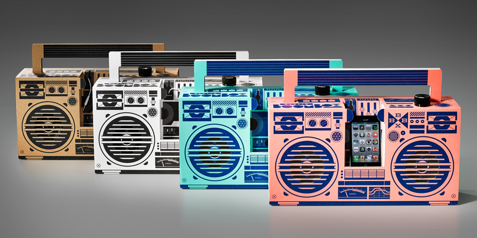 Ghettoblaster in four colorways