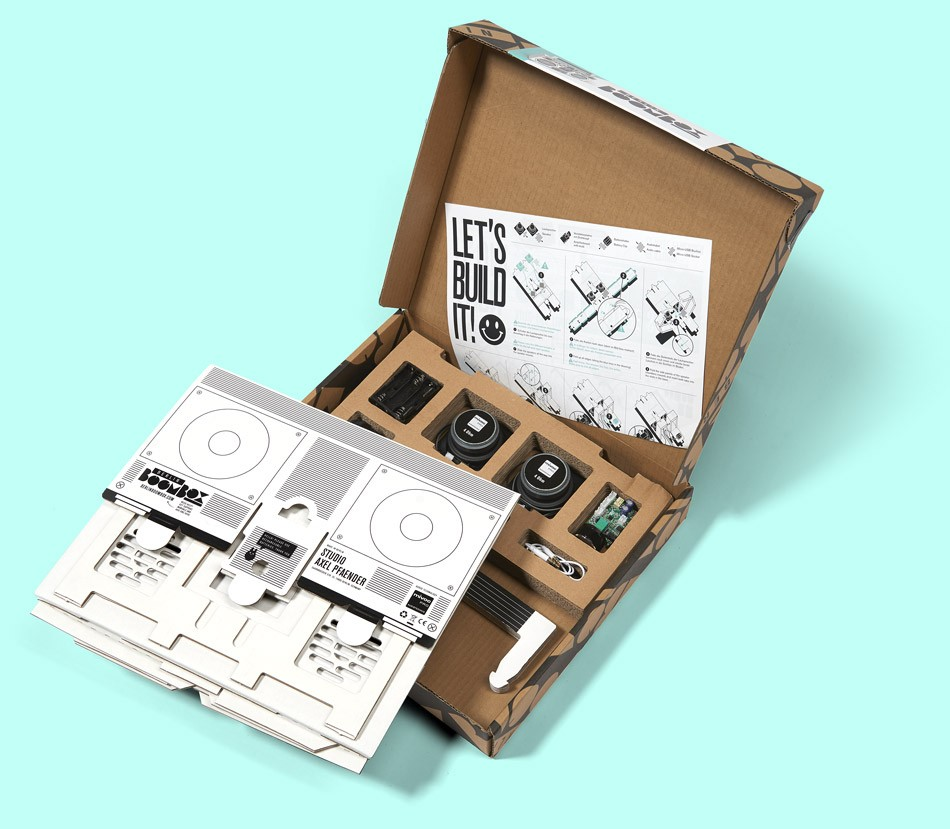 Berlin Boombox DIY kit with parts