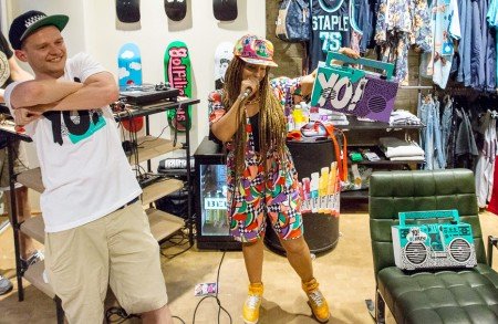 Yo! MTV Raps event at hhv.de store