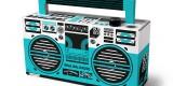 Berlin Boombox Bluetooth Speaker with custom design for 80s80s radio