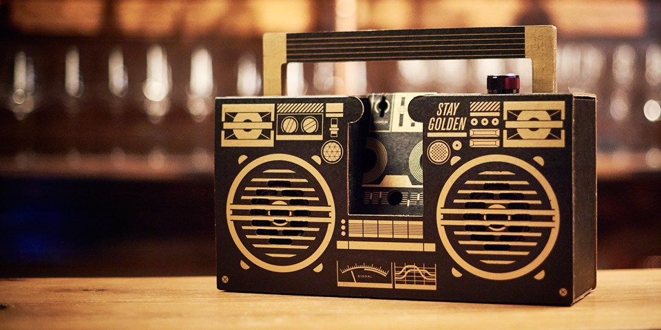 Black and Gold Limited Edition Bluetooth Boombox