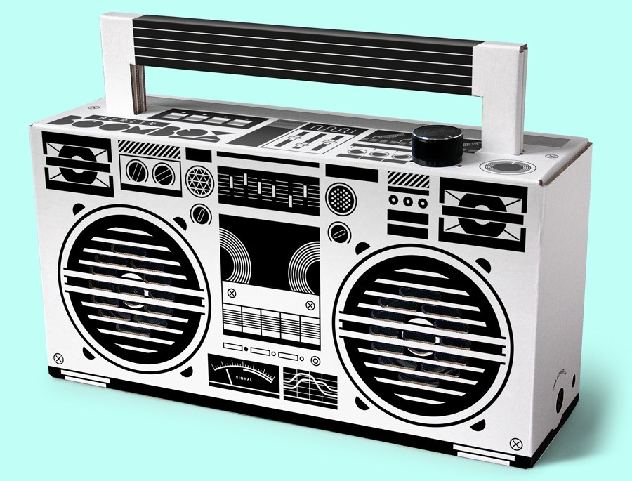 Berlin Boombox Bluetooth Speaker, new Version 4