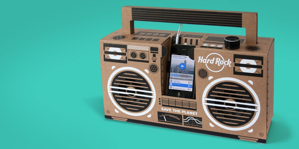Custom Boombox for Hardrock Cafe