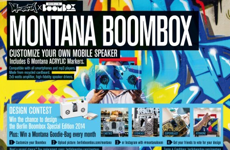 Montana Boombox - customize your own