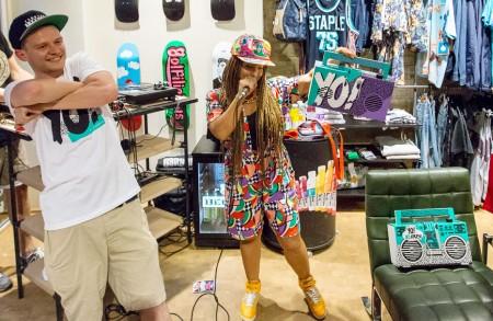 Yo! MTV Raps event at hhv.de store